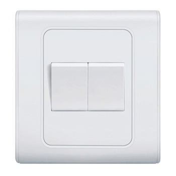 Two Gang One Way Switch Modular Switches Ahmedabad