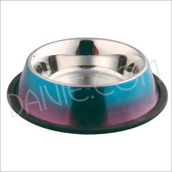 Dog Bowl with 2 Color Finish