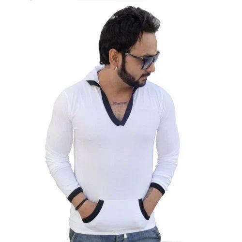 Full Sleeve Men T Shirts - White Full Sleeve T Shirts Ecommerce Shop ... f37fe78f3135