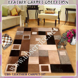 Patched Leather Carpet
