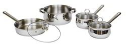 Stainless Steel 7 Pcs Belly Shape Cookware Set