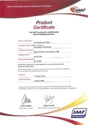 IAAF Certification No -E-14-0776