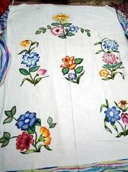 Fabric Painting On Bed Sheet