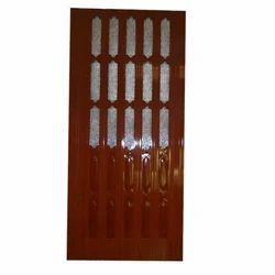 Dark Brown Sliding Folding Door With Glass