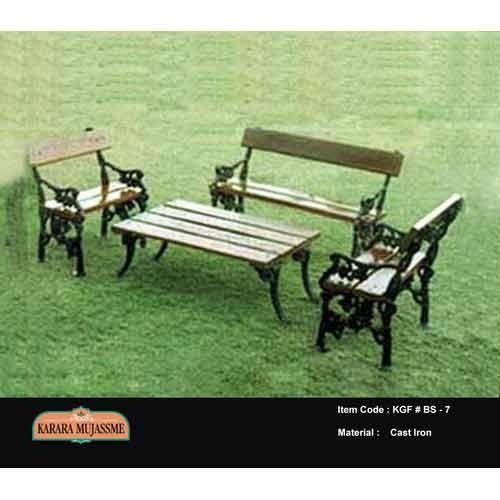 Vintage Cast Iron Garden Bench Set