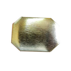 Brushed Square Shape Metal Beads