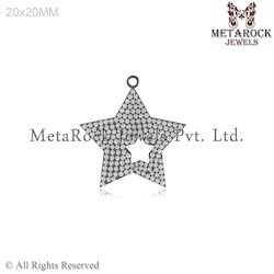 Pave Setting Diamond Pendant Jewelry