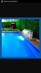 带防水板的游泳池