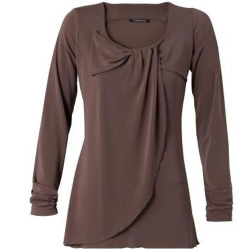 5c9ed72d9a0d Brown Long Sleeve Top