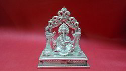 Silver Plated Ganesha Statue