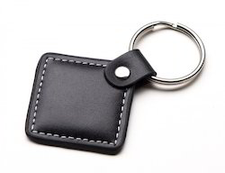 Genuine Leather Design Key Rings, for Promotional, Shape: squar