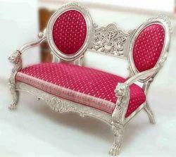 Silver 3 Seater Sofa