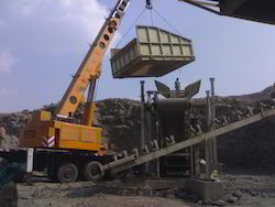 Erection of Stone Crushing Plant
