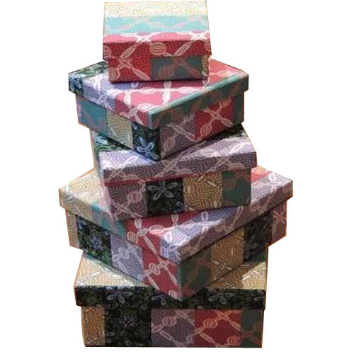 Printed Handmade Paper Storage Boxes
