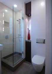 L type swing shower enclosure