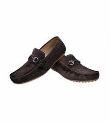 Brown Suede Buckle Shoe