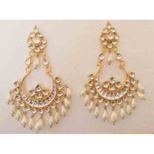 Indian earrings gold plated handmade chandelier style at rs 2750 1 indian earrings gold plated handmade chandelier style aloadofball Images