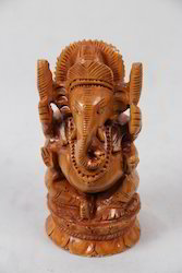 Wooden Open Ganesha