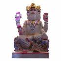 Lord Brahma Marble Statue