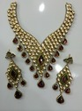 18k 24k Gold Kundan Meena Designer Latest Necklace
