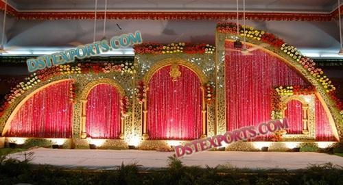 Wedding stage golden backdrop set dst exports patiala id wedding stage golden backdrop set junglespirit Gallery
