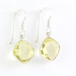 Citrine Silver Earring Sterling Silver Earring