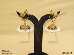 Moti Jhumka Earrings