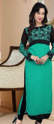 Green And Black Long Suit