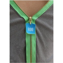 Glossy Zipper Puller Label