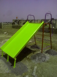 Green Plastic Playground Slide