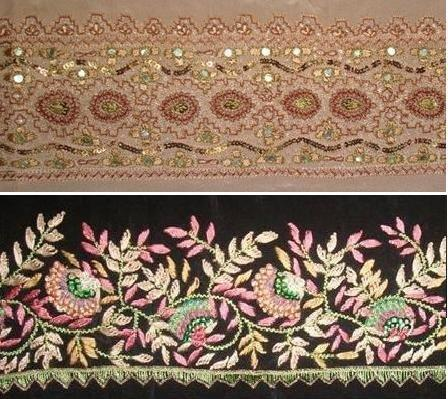 Embroidery Border Butta View Specifications Details Of