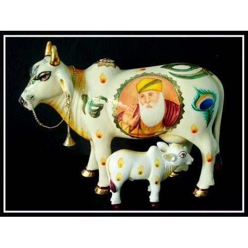 Image result for cow featuring guru nanak inside it