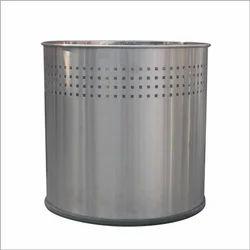 Broad Top Open Stainless Steel Bin