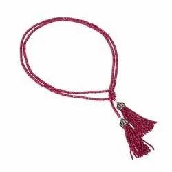 Ruby Gemstone Bead Necklace