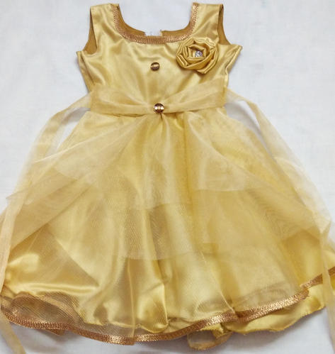 f25e229327 Party Wear Baby Frock Golden ( 2 3 Years )