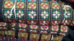 Multicolor Designed Cotton Embroidered Blouse Fabric