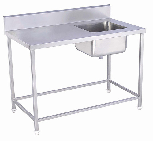 Single SS Sink with Table - View Specifications & Details of ...