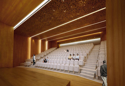 College Auditorium Interior Designing