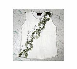 Girls Printed Sleeveless T Shirts