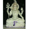 White Shiva Statue