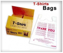 Casual Rope-Handle T Shirt Shopping Carry Bag, Bag Size: 6x15, 16x20