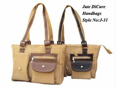 e4e6c36cac Brown Manufacturer Of Jute Handbags