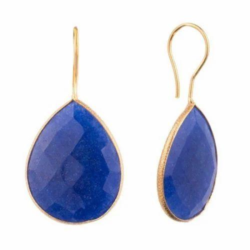925  Sterling Silver Lapis Lazuli /& Choose Gemstone 1 Pair Stud Earrings C-8153