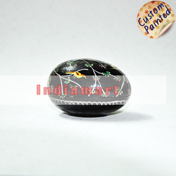 Paper Mache Handpainted Birds - Egg Shaped Trinket Boxes