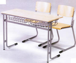Wooden School Desk Furniture Bench Double Seater Chair Set