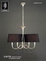 Paola Pendant 6 Light Silver Leaf