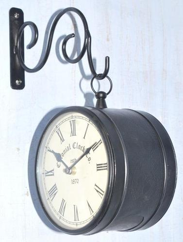 Double Sided Railway Station Clock