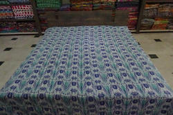 New Cotton Kantha Ikat Bed Cover