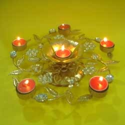 6 T Light Holder With Crystals ( TL ND - 03 )
