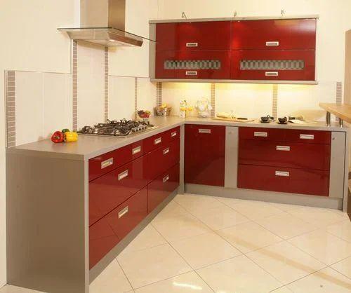modular kitchen - l shaped modular kitchen wholesale trader from